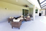 Lanai with spacious seating areas and pocket sliders
